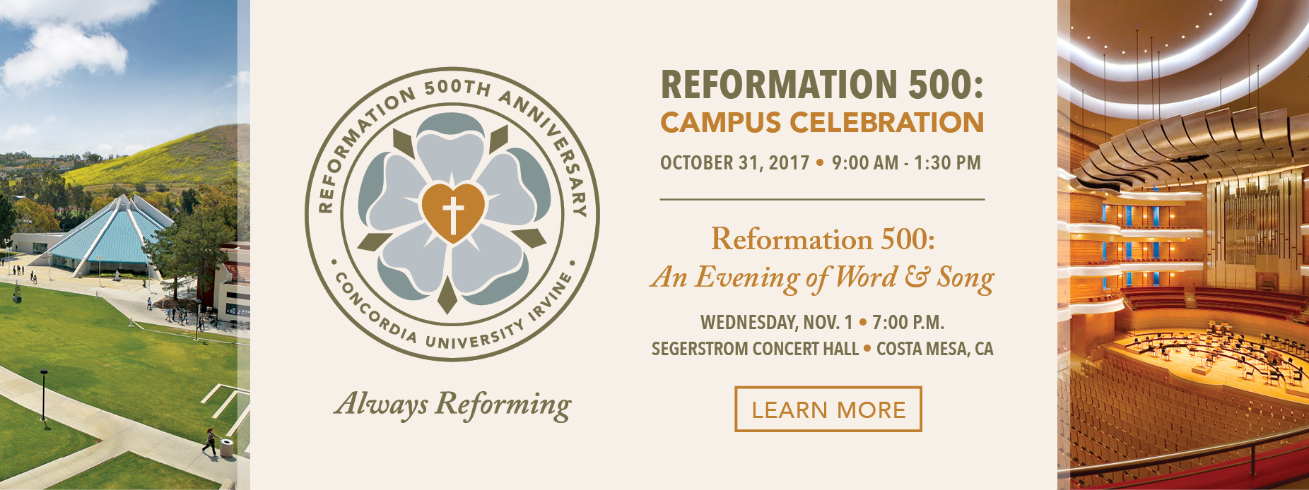 Reformation 500th Anniversary Campus Celebration & Evening of Word and Song