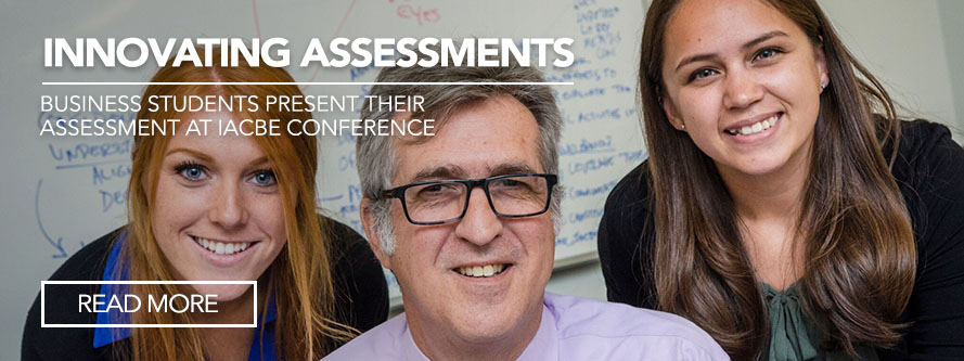 Innovating Assessments: Business students present their assessment at IACBE conference
