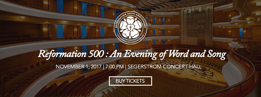 Reformation 500: An Evening of Word and Song with Segerstrom Concert Hall background