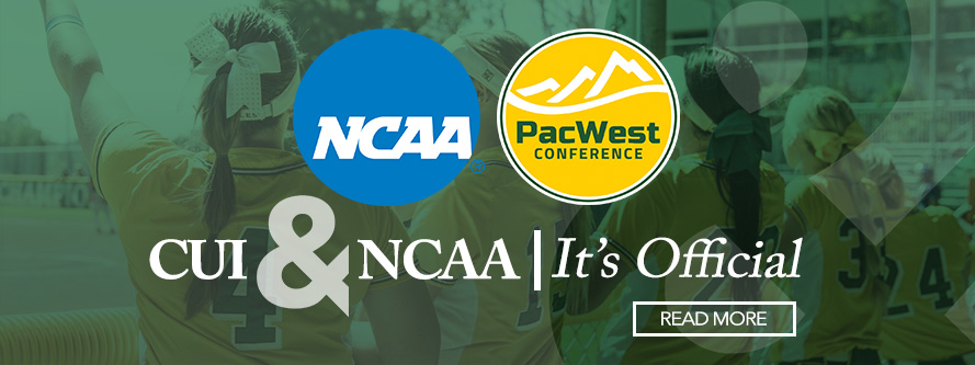CUI & NCAA | It's Offical Read More, NCAA and PacWest Conference logos