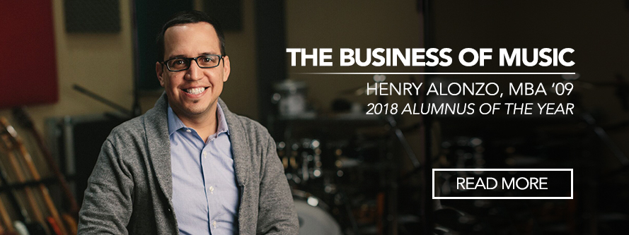 The Business of Music: Henry Alonzo, MBA '09 and 2018 Alumnus of the Year in recording studio