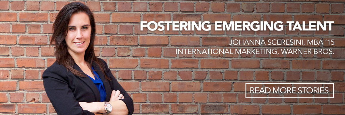 Fostering Emerging Talent - featuring one MBA Alumna - read more stories