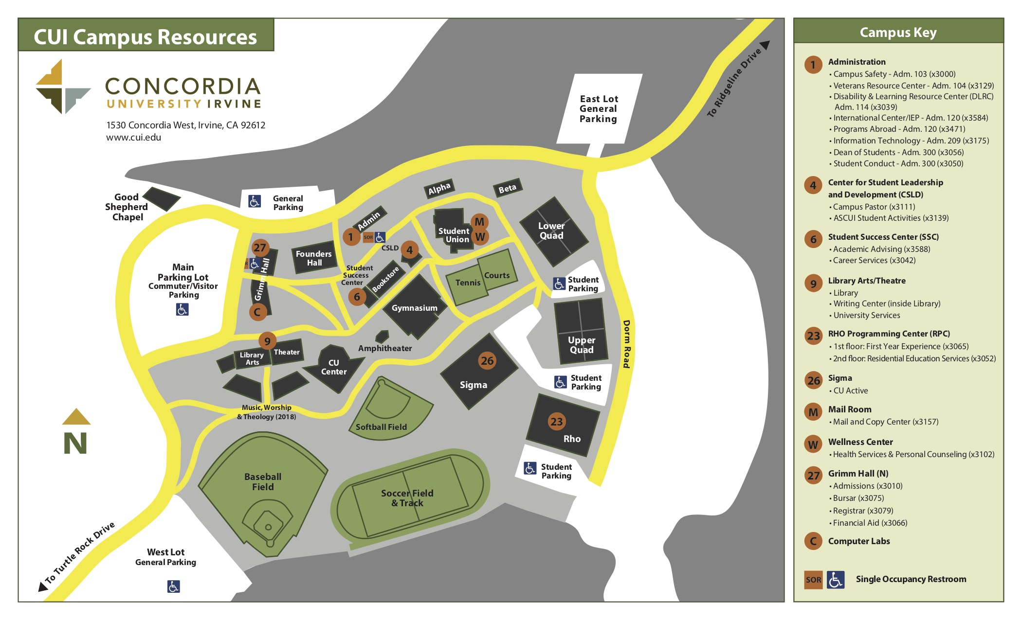 Campus Map Alternate