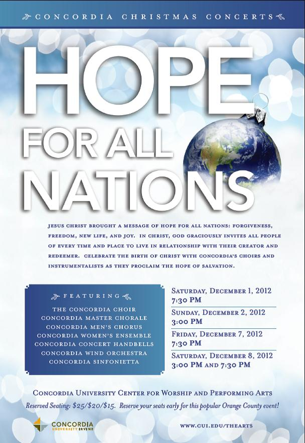 Hope For All Nations Flyer