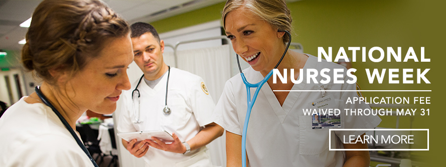 National Nurses Week application fee waived through May 31st.