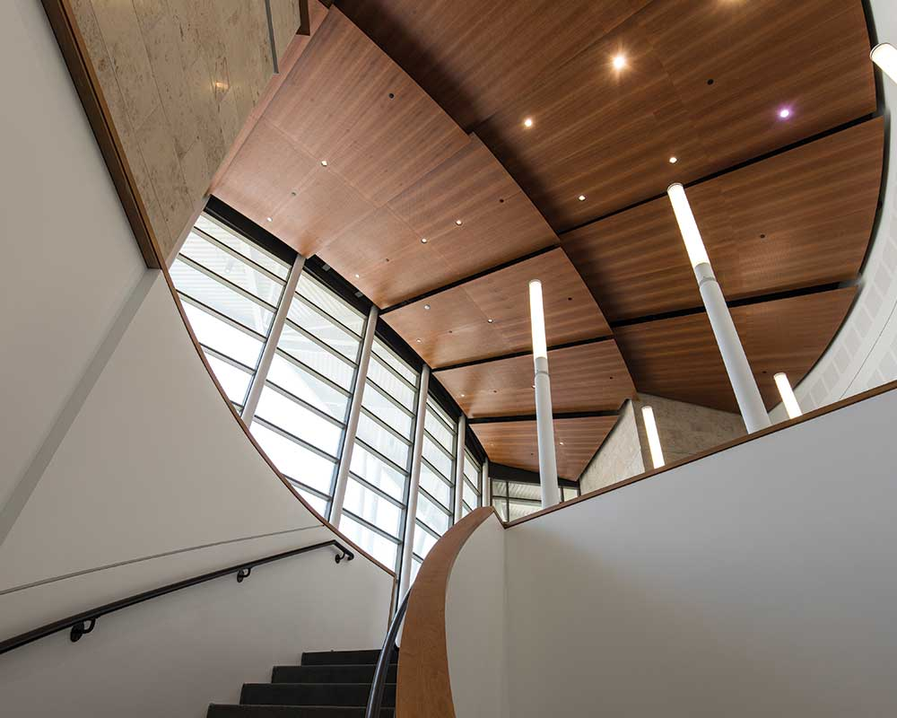 Staircase Leading into Music Wing Lobby