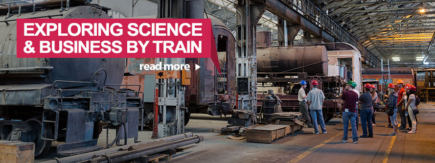 Exploring Science and Business by Train