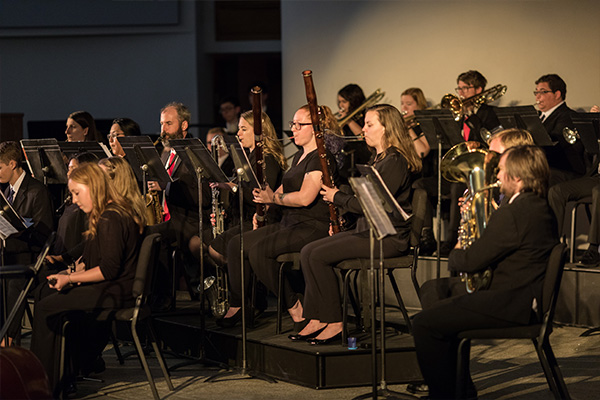 Concordia Wind Orchestra performing at the D-Day 75 Home Concert in May 2019