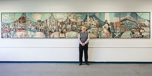 Giant mural with Lutheran roots finds a new home