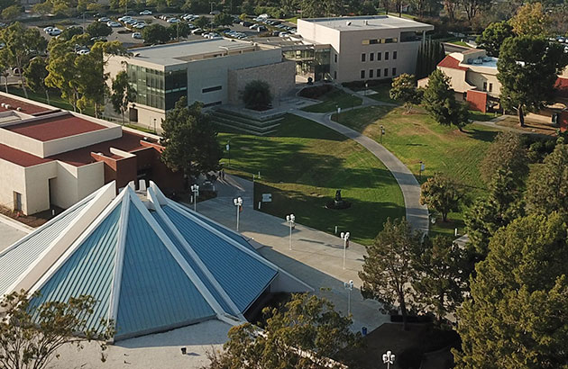 Aerial photo of the CUI campus