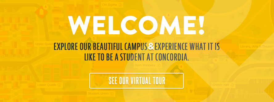 Explore our beautiful campus & experience what it is like to be a student at Concordia.