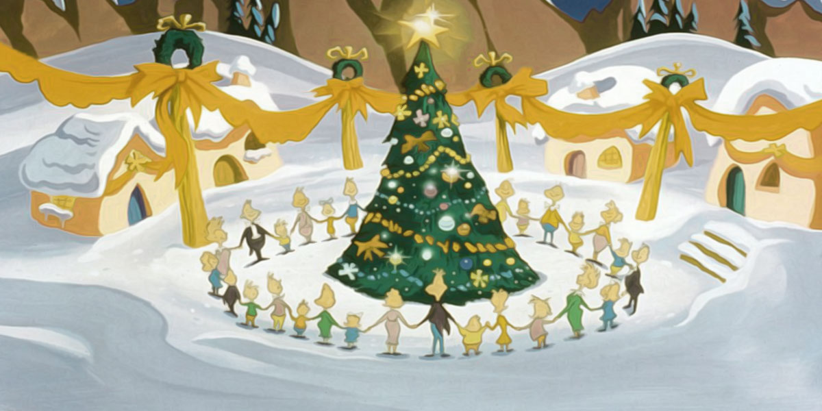 Illustration of Who's singing around the Christmas tree