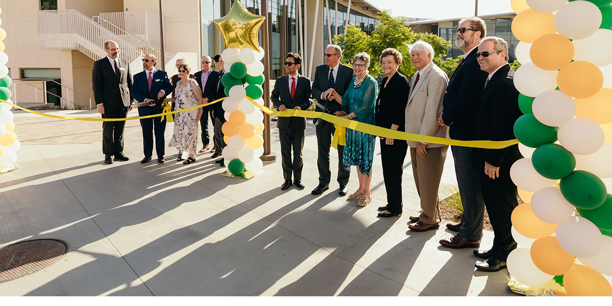CUI Faculty & Staff and Friends Cutting Ribbon for BMC Opening