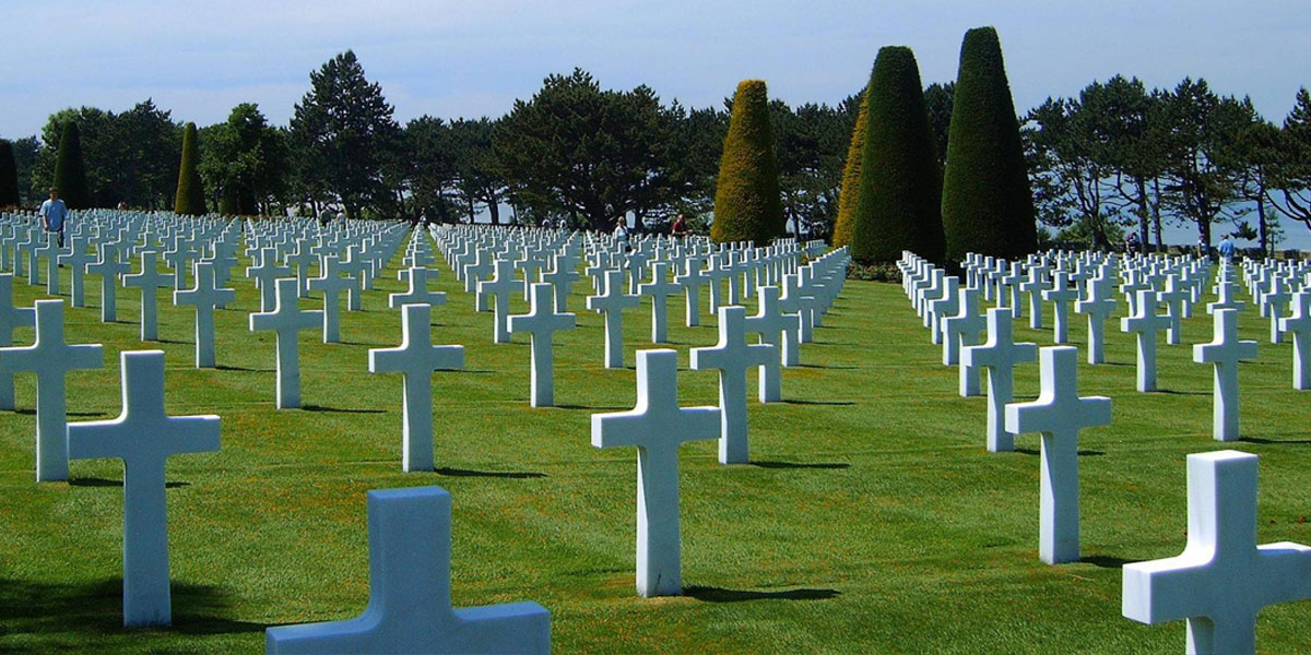 Field of crosses at the Normandy American Cemetery