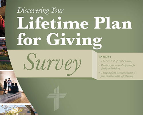 Lifetime Plan for Giving