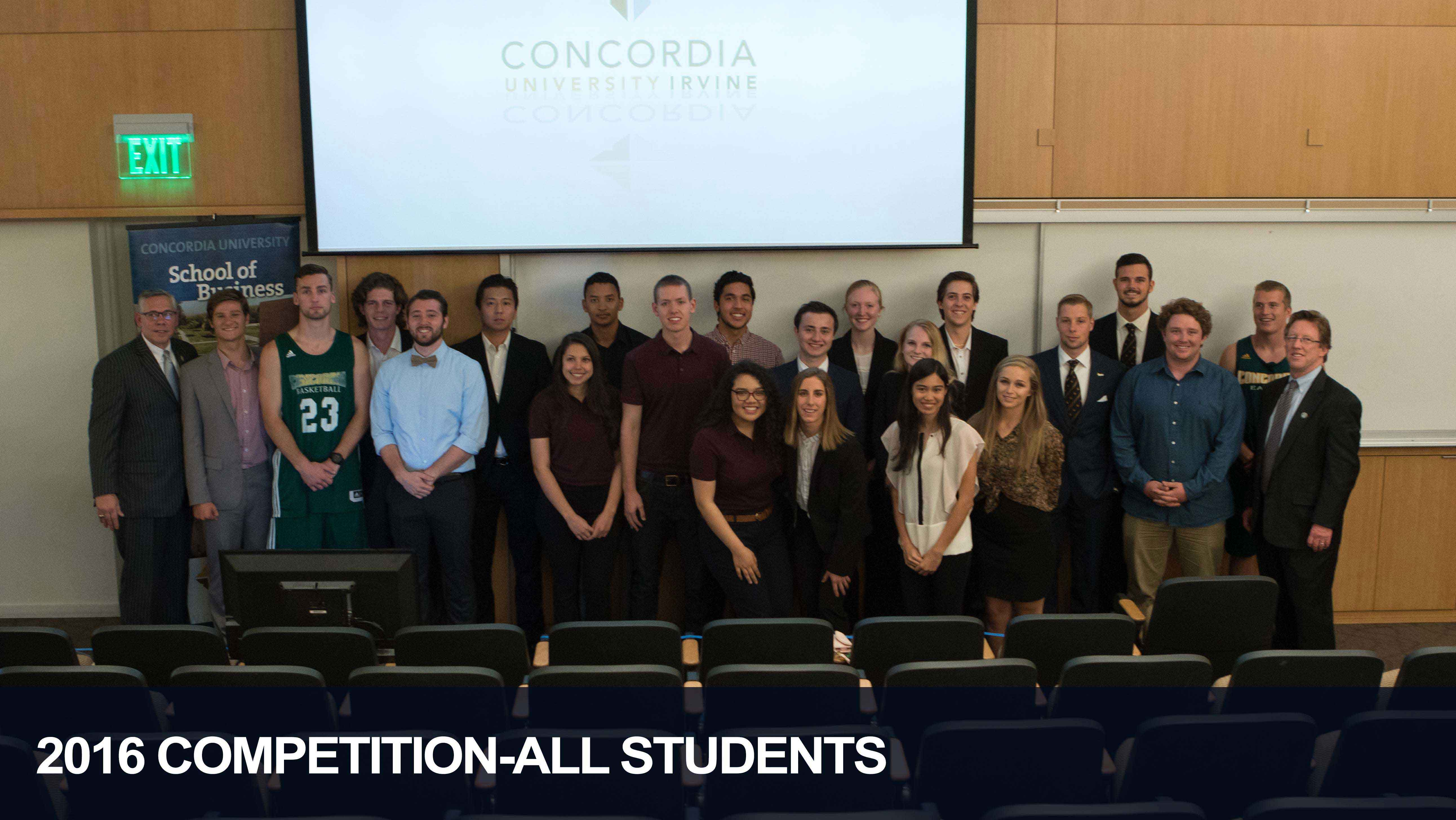 The Students that Competed in the 2016 Competition