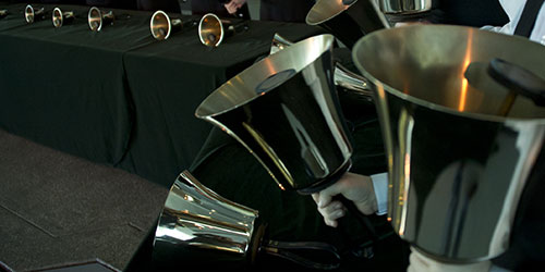 New Handbell Composition by Alex Guebert '10 is Profiled