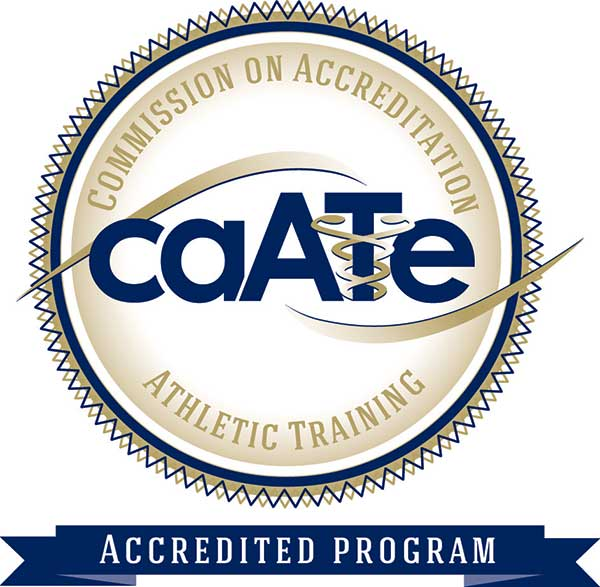 This program is accredited by the Commision on Accreditation of Athletic Training Education (CAATE)