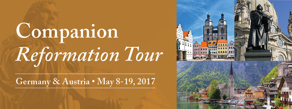 CUI Reformation Tour banner, Germany and Austria, May 8-9, 2017