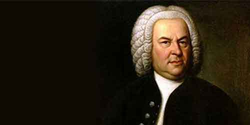 A historic portrait of J.S. Bach