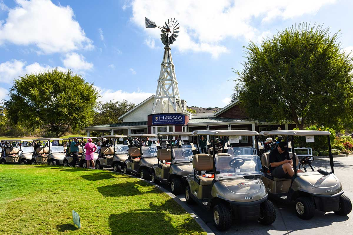 Strawberry Farms' golf carts