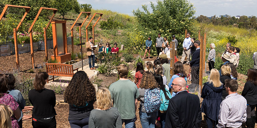 New Prayer Garden Dedicated in Heritage Garden