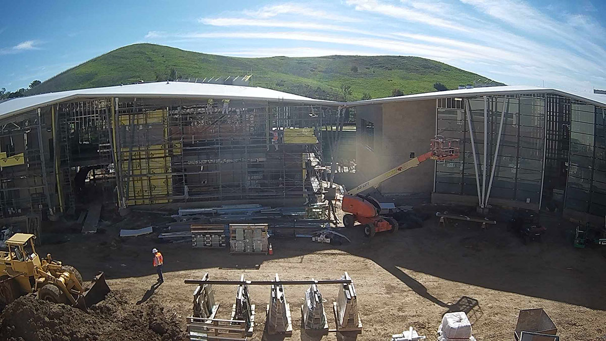 Borland-Manske Center Construction Timelapse