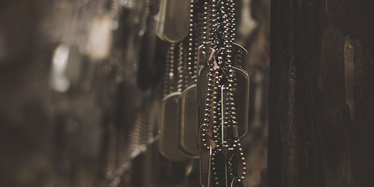 Dog tags from the military