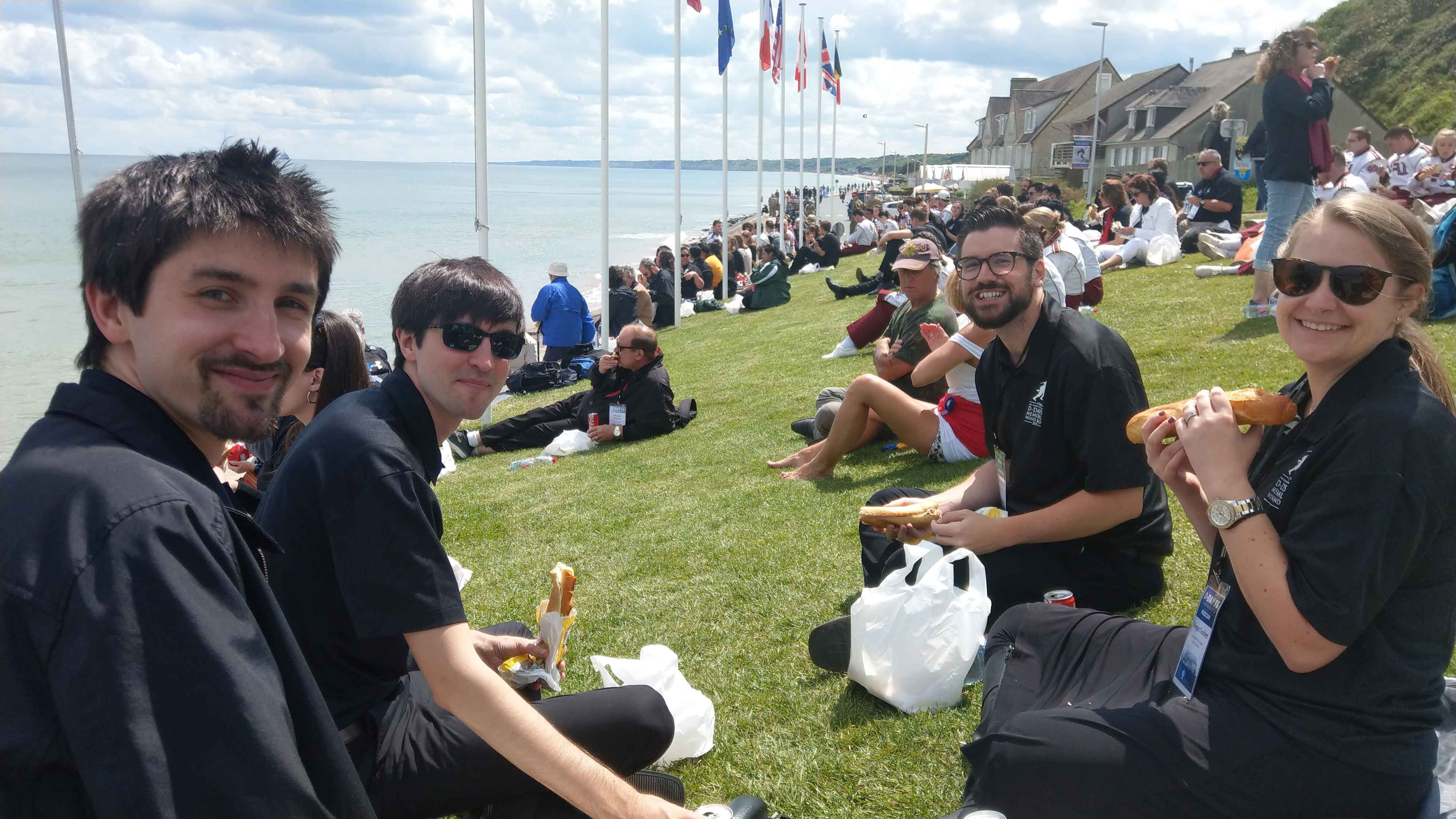 lunch at Omaha Beach ([pc: Jeff Held)