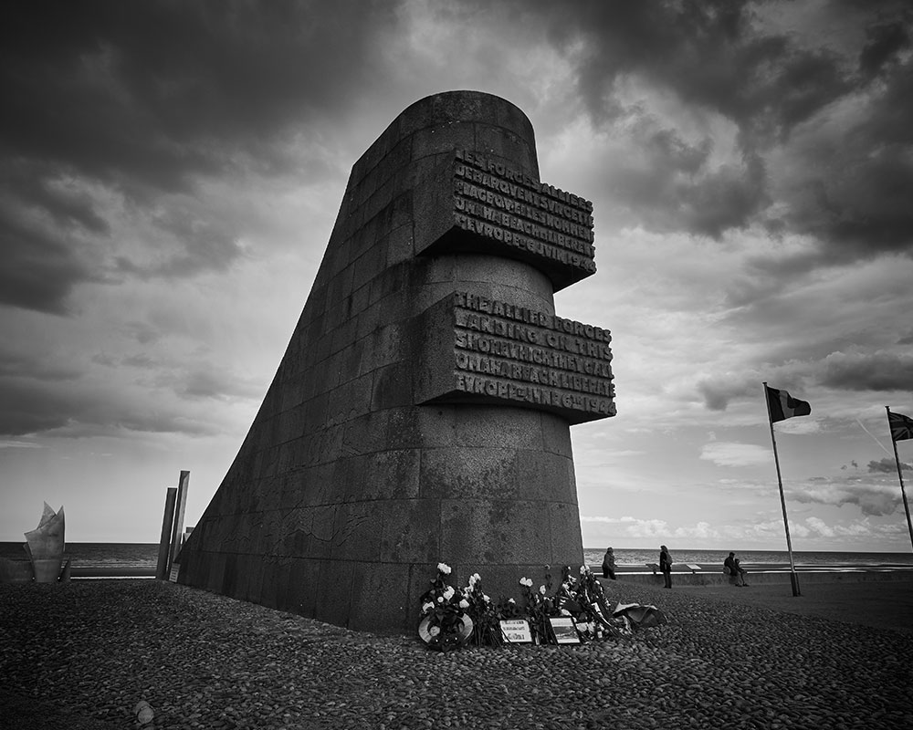 The Omaha Beach Memorial, site of our concert on D-Day (photo credit: Brandon Dunivent)