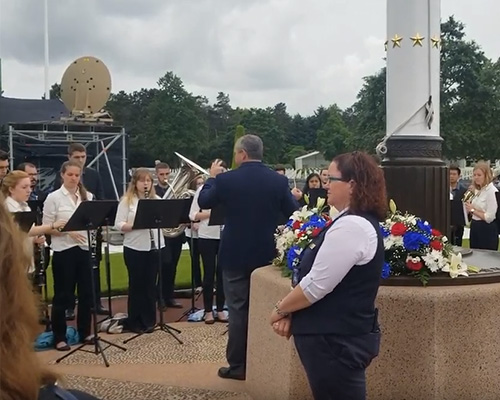 Watch video: CWO Performs American Cemetery National Anthems