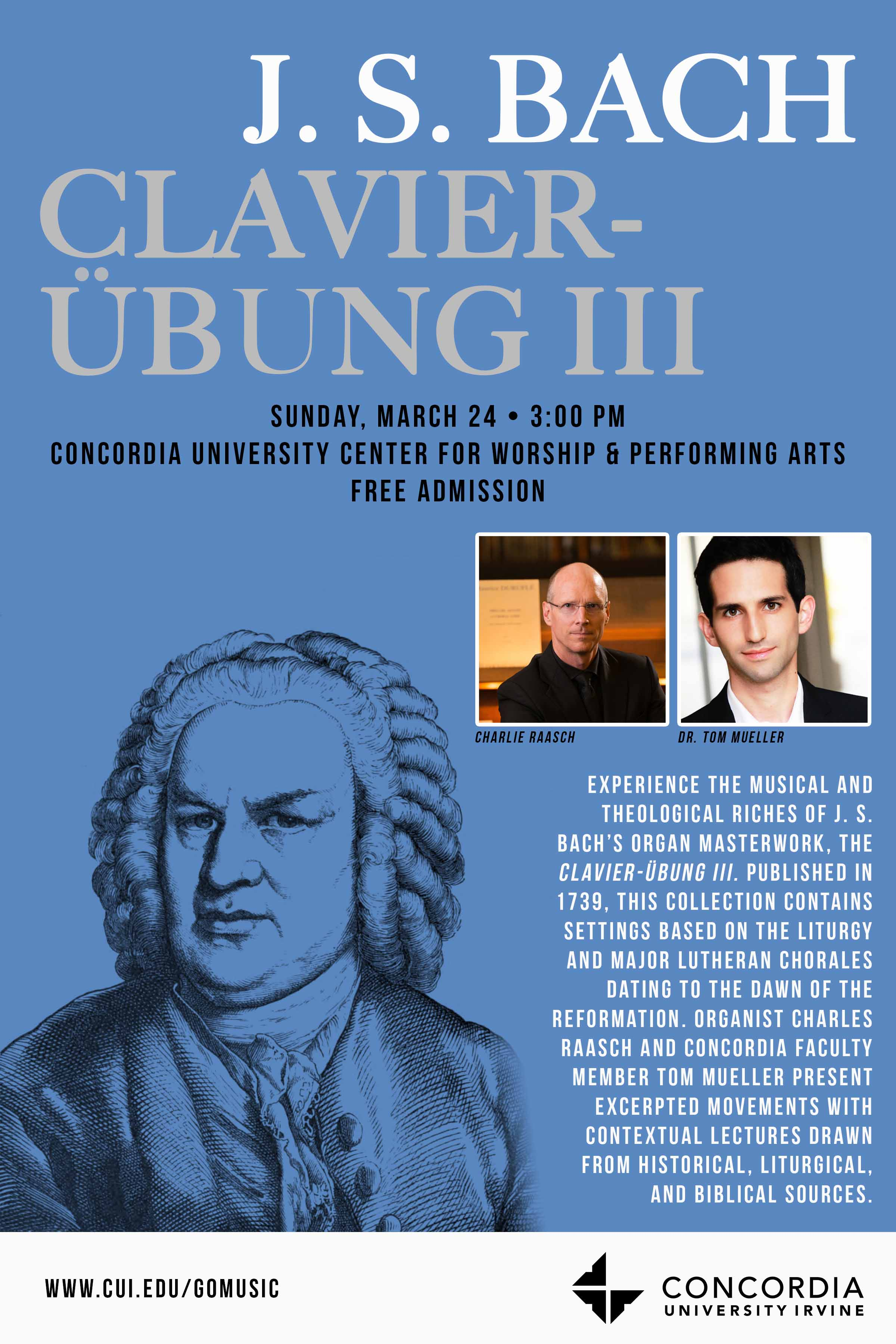 J.S. Bach Clavier-Ubung III performance poster
