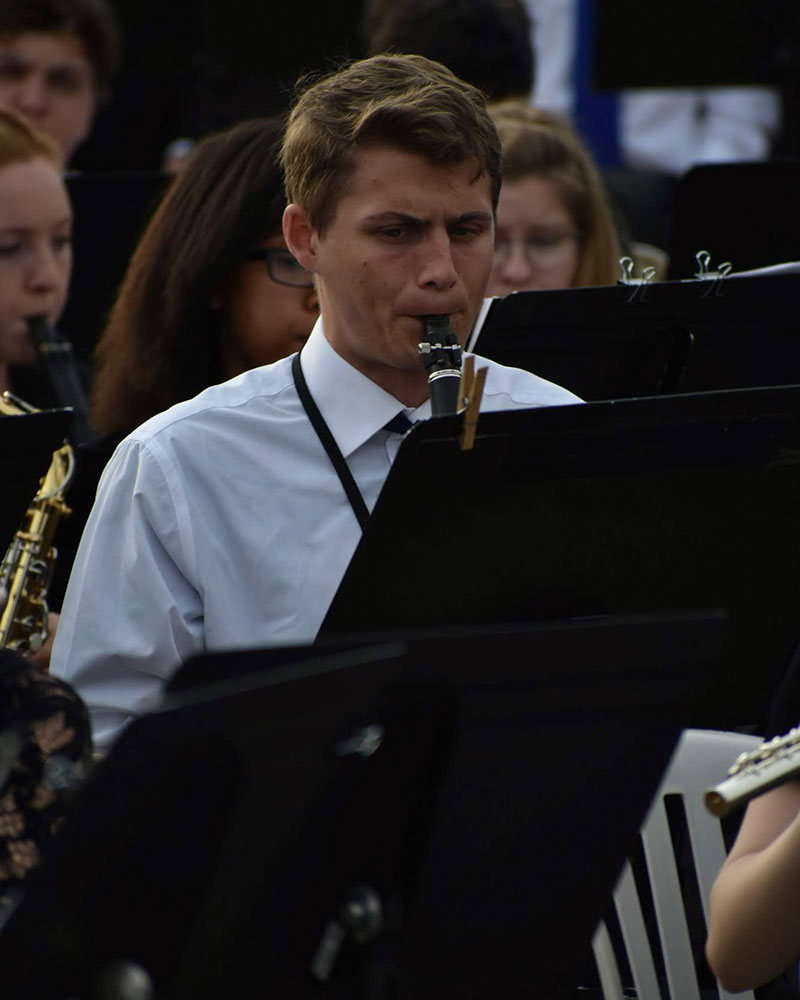 June 4 - Paris: Joshua Horton performs on clarinet at the D-Day Memorial Wind Band concert in Paris (pc: Sam Held)