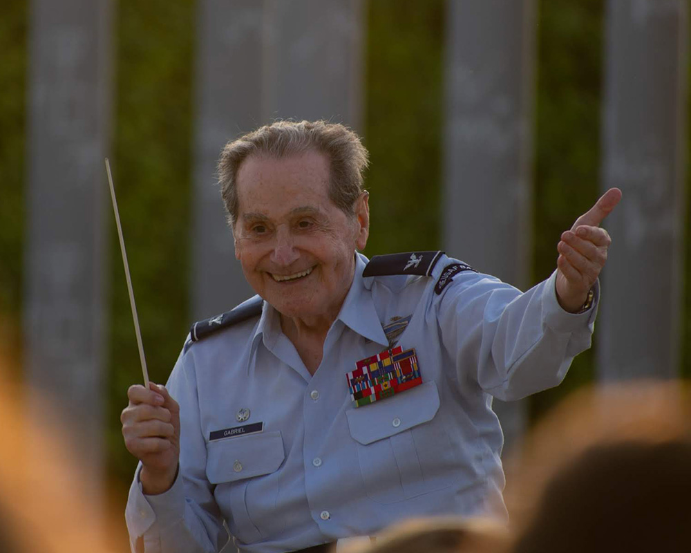 June 4 - Paris: Col. Arnald Gabriel conducts the D-Day Memorial Wind Band (pc: Sam Held)