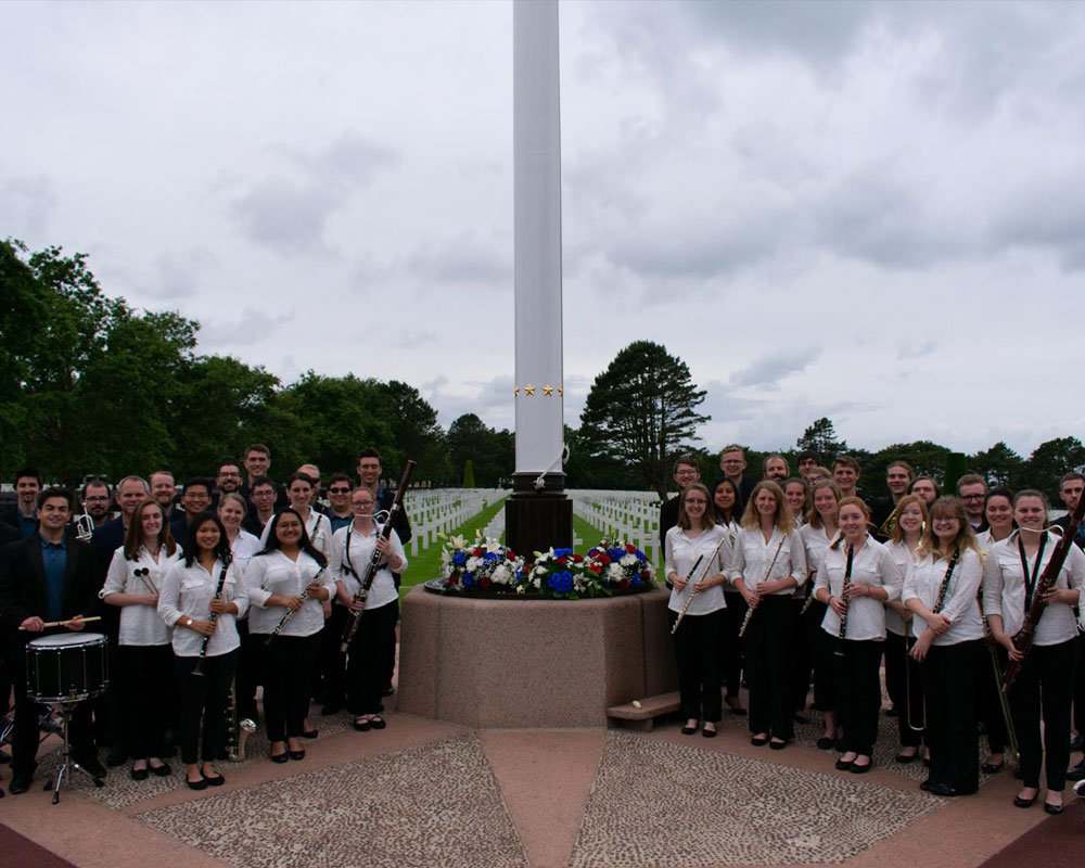June 5: The CWO at the Normandy American Cemetery (pc: Sam Held)