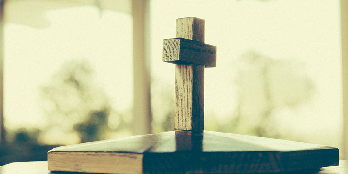 Wooden cross in Good Shepherd Chapel