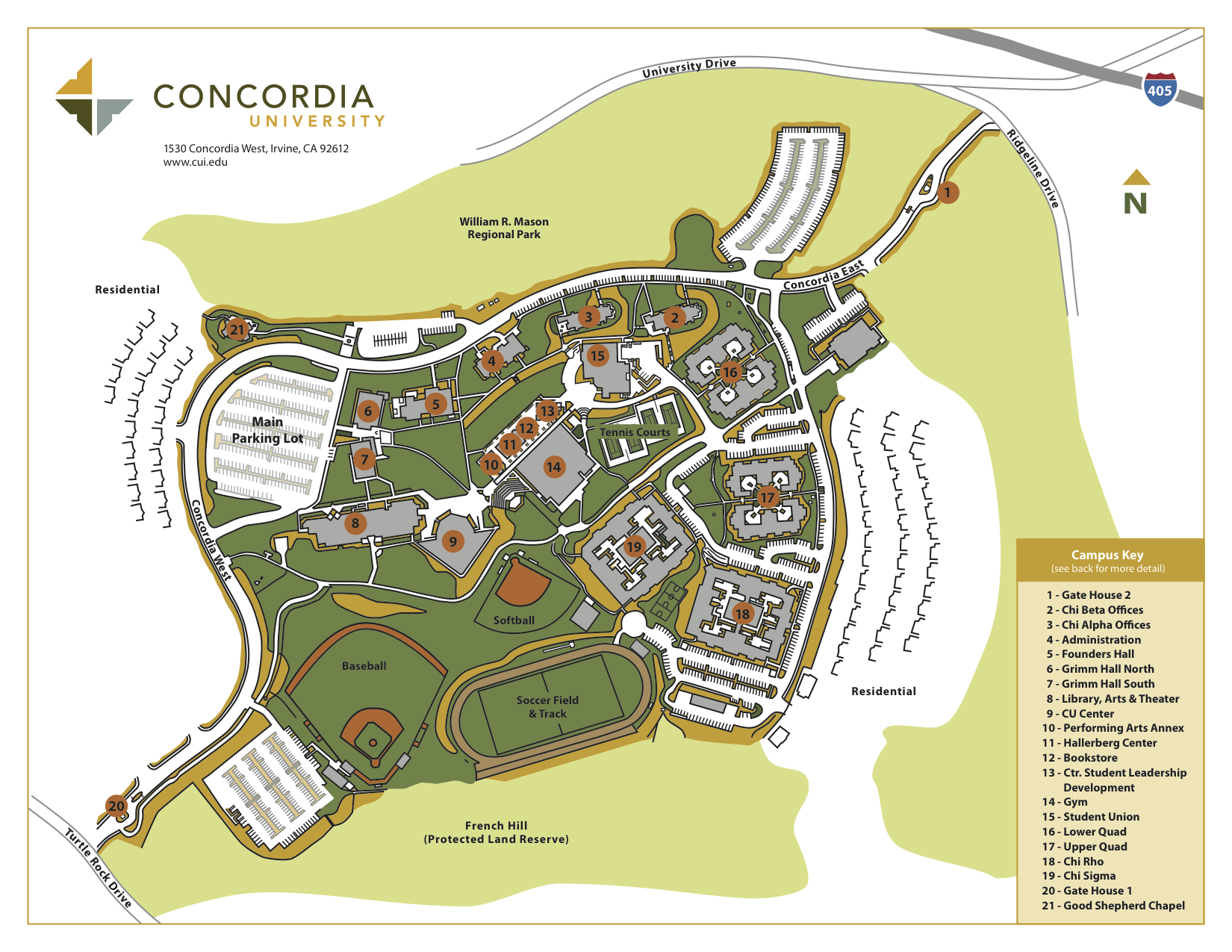Campus Map | First Year Experience | Concordia University Irvine